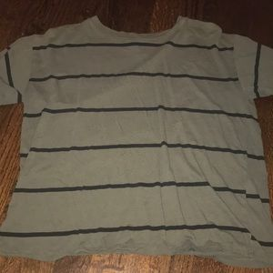 Cute t-shirt from forever21, black and army green